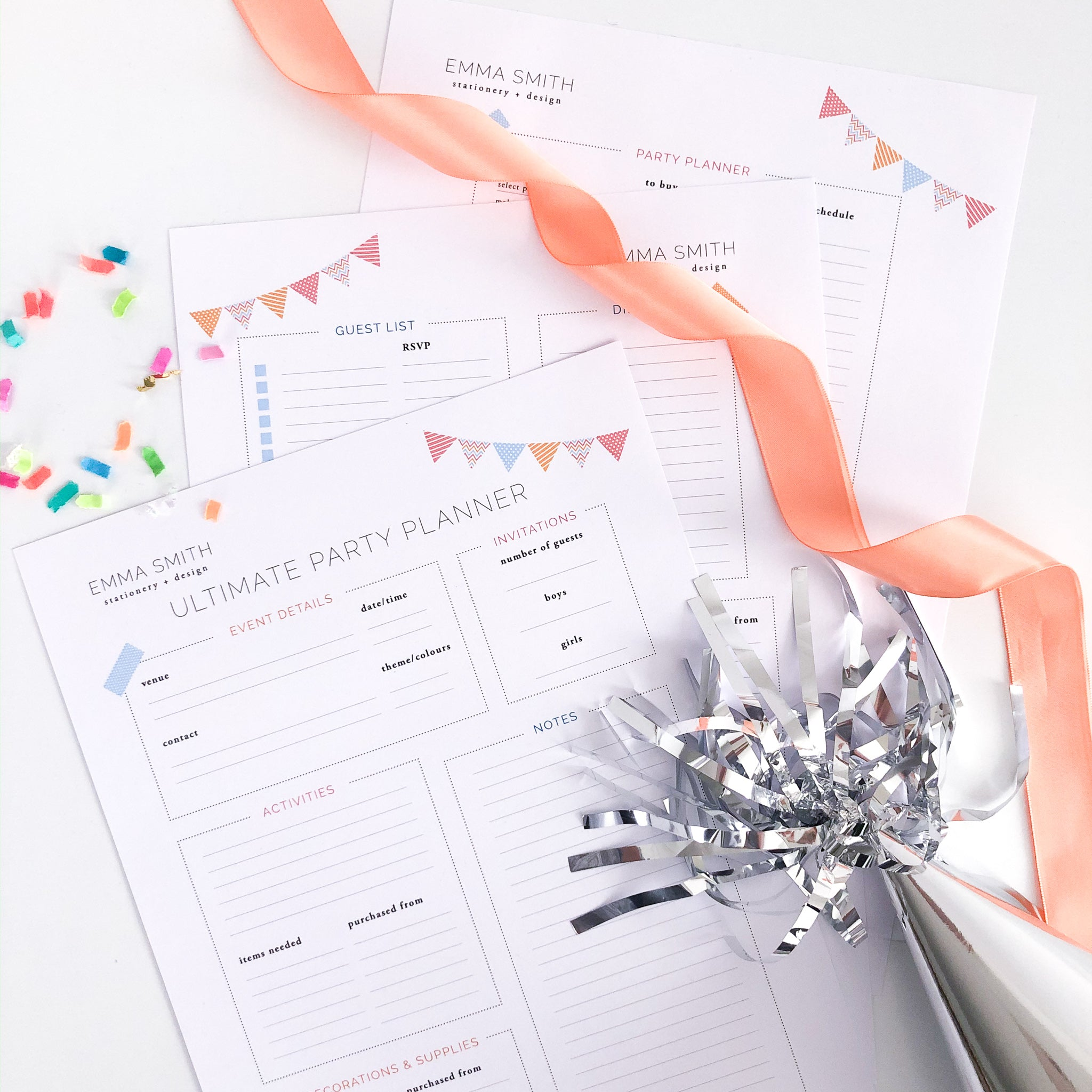 The Ultimate Party Planner - The Printable Place