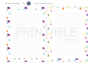 Confetti Note Paper Download - The Printable Place
