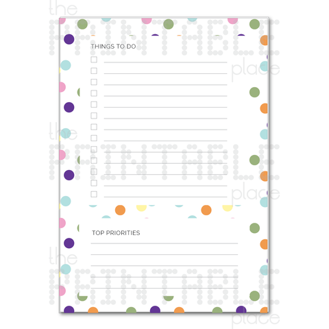 Confetti Themed Printable To Do List