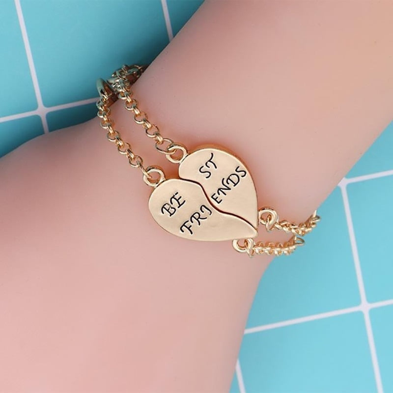 Charm 2 Pcs/Set Best Friends Bracelets For Women Girls