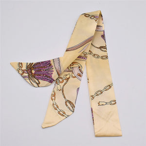 Small Silk Scarf For Women New Print Brand Fashion Head Scarf