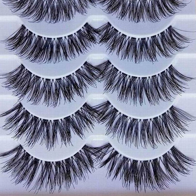 5 Pairs Makeup Natural Long False Eyelashes Extensions