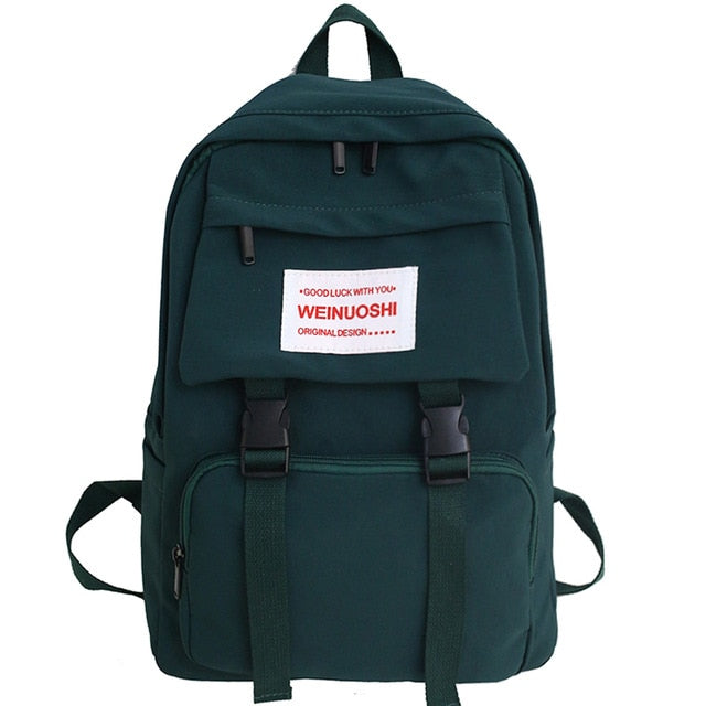 Waterproof Buckle Backpack Large Capacity School Bags