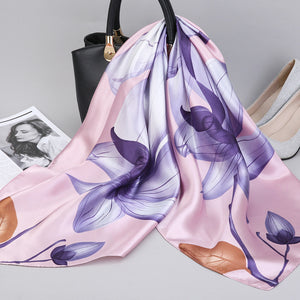 Fashion Kerchief Silk Satin Neck Scarf For Women