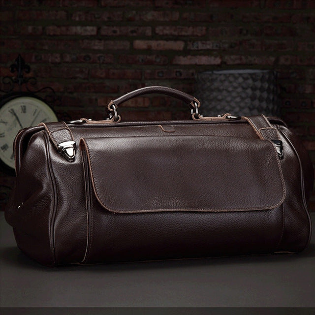 Luufan Top Quality Genuine Leather Travel Bag 100% Real Cowskin