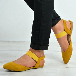 Loafers Solid Square Toe Ballet Flats Casual Slip On