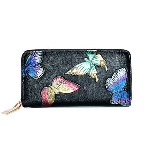 2020 Luxury Vintage Leather Bank Card Cellphone Womens Wallets