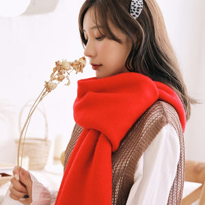 Winter Scarf For Women Knitted Cashmere Shawl Wrap Warmer
