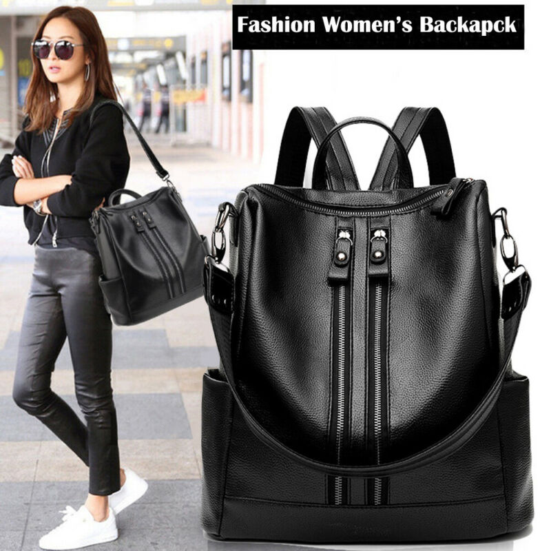 New Fashion Woman Backpack High Quality PU Leather
