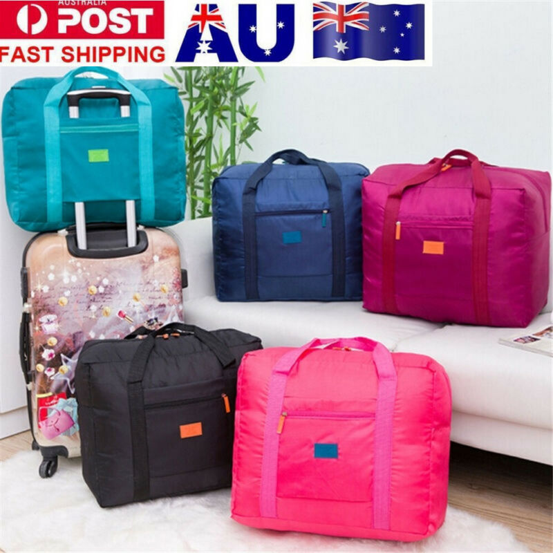 Unisex Adult Travel Bag Big Size Solid Foldable Nylon Soft Waterproof Luggage Bag