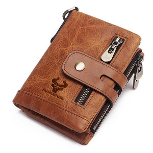 Free Engraving 100% Cowhide Genuine Leather Men Wallet Coin Purse Mini Card Holder