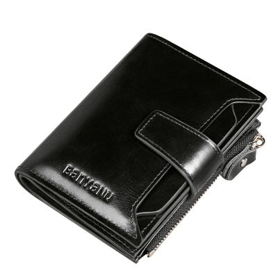 Vintage Men Wallets Genuine Leather With Coin Pocket Card Holder