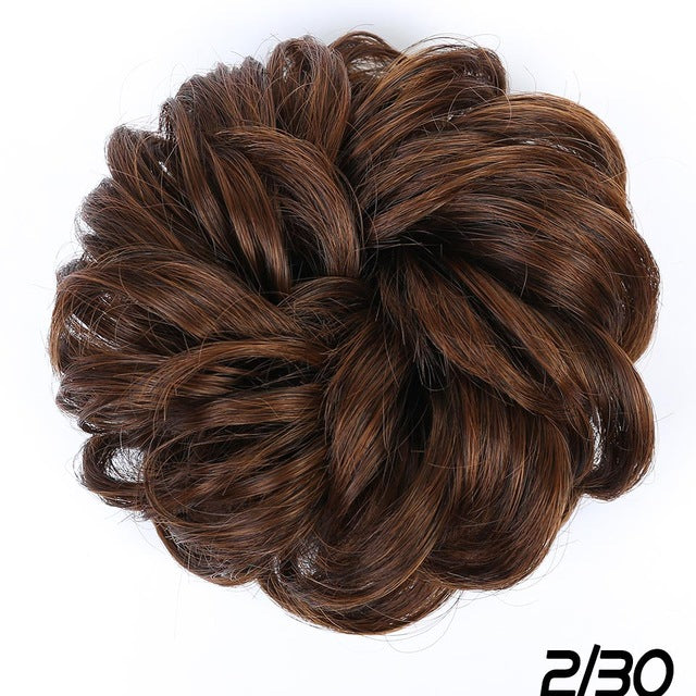 AILIADE Fashion Synthetic Fake Hair Bun Chignons for Adult Women in 9 Colors