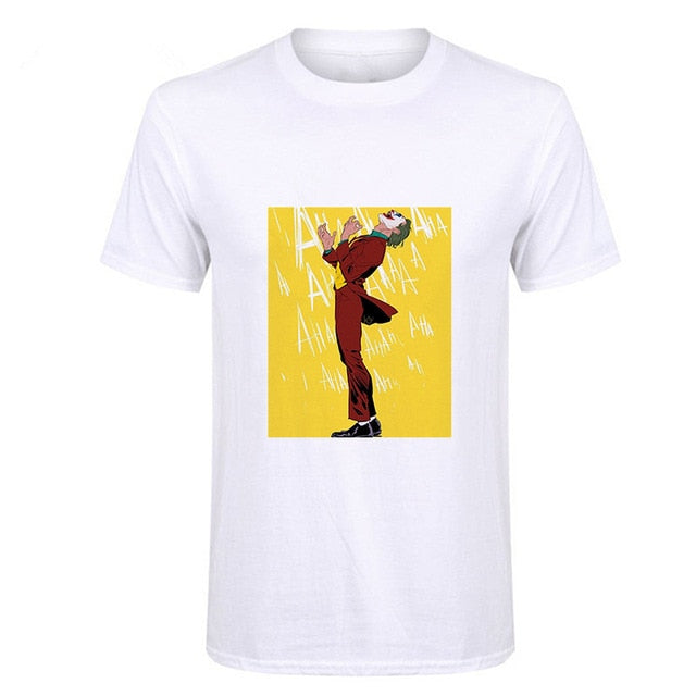 Showtly Joker Joaquin Phoenix T Shirt Short Sleeve Tee Why So Serious T-shirt
