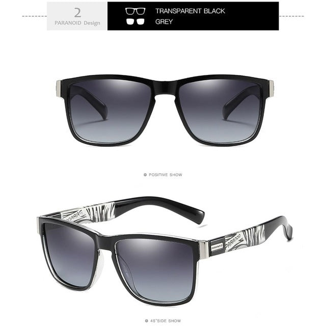 MISSKY Polarized Square Black Sunglasses