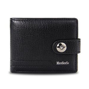 men's wallet made of leather purse has slim port money