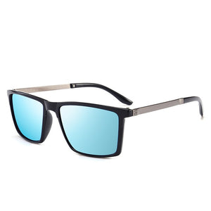 SIMPRECT Polarized Sunglasses Men Square Sunglasses Retro Vintage Anti-Glare Driver's