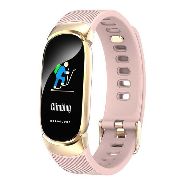 Lady Fitness Bracelet Smartwatch Clock Waterproof Heart Rate Monitor For Android IOS Sport Tracker