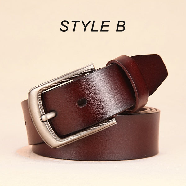 [DWTS]men belt high quality men genuine leather strap pin buckle free shipping