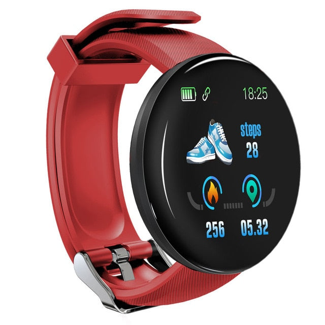 Sport Smart Watch Blood Pressure Heart Rate Monitor Waterproof For Android IOS