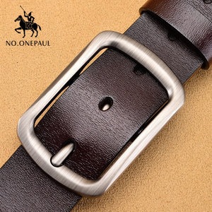 NO.ONEPAUL genuine leather luxury strap belts for men