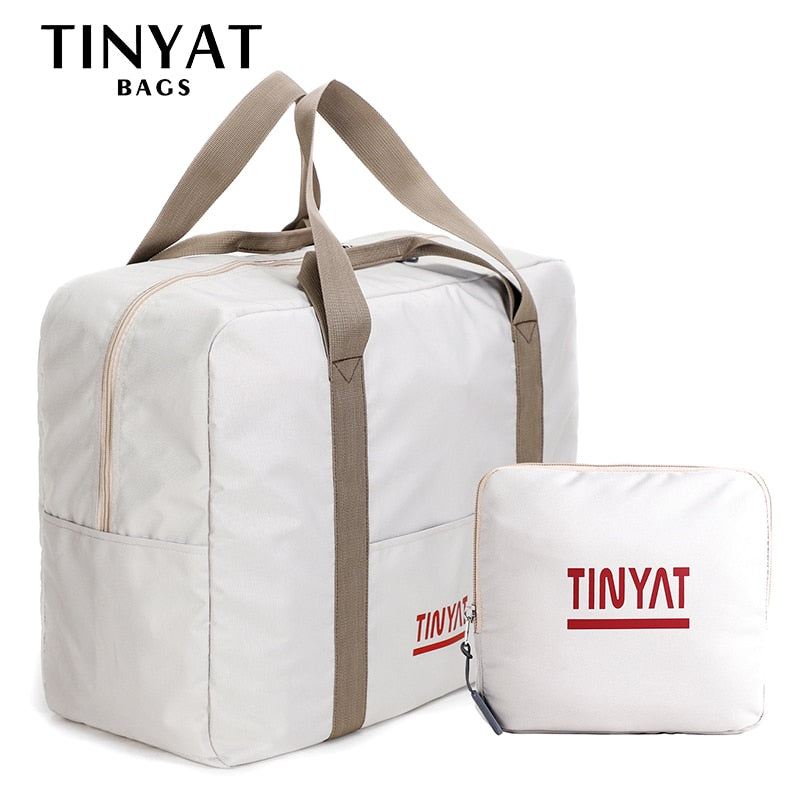 TINYAT women travel bag, rigid folding luggage bag, suitcase light