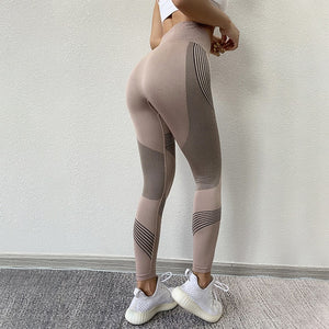 NORMOV Seamless Women Leggings Casual High Waist Push Up Ankle Length Leggings Workout Jeggings Patchwork Fitness Leggings Gril