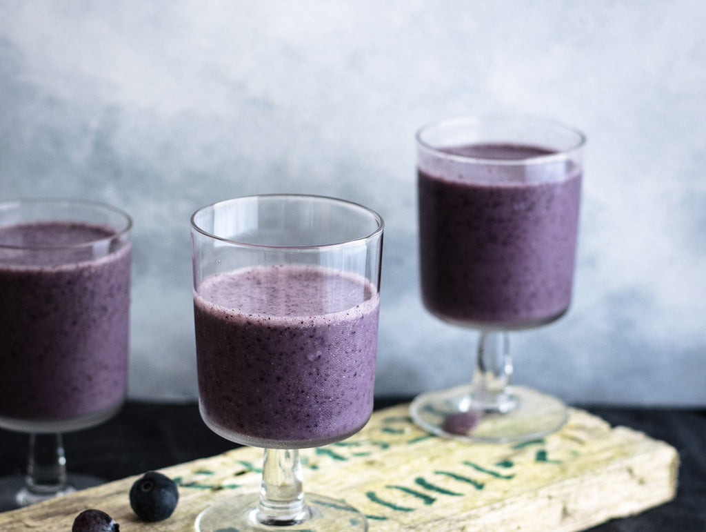 Flat Belly Blueberry Smoothie