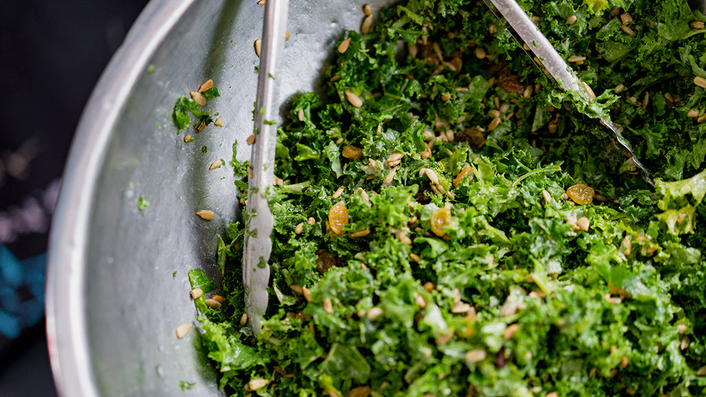 Kale  Salad  and Lemon Dill  Dressing