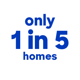 1 in 5 homes