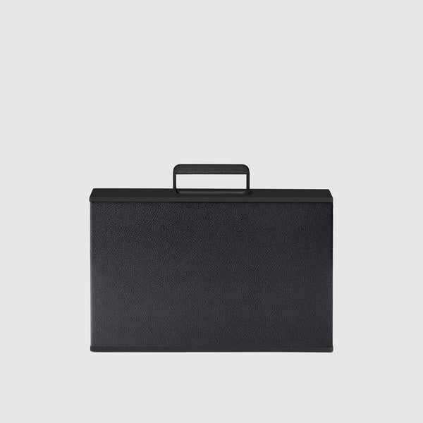 Charles Simon Mackenzie attache case in all black front view