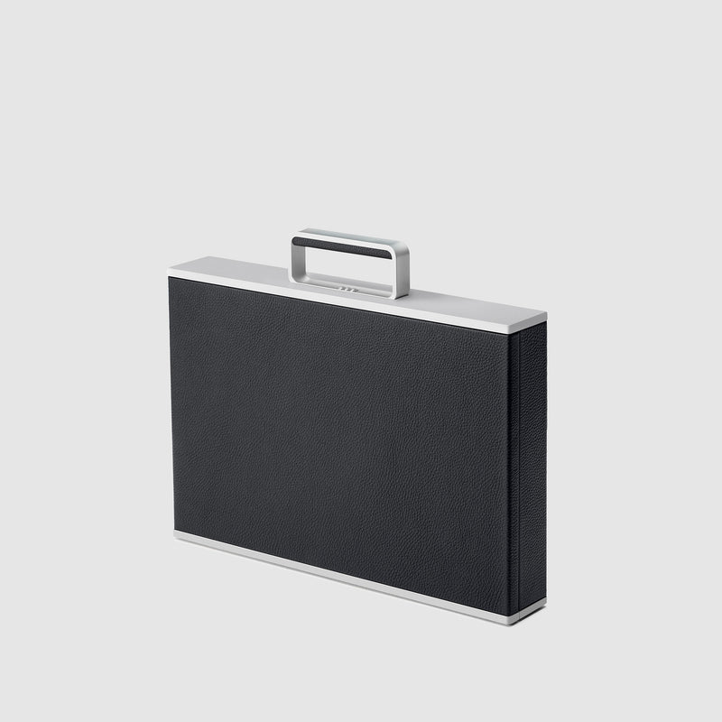 Charles Simon Mackenzie attache case in black 3/4 view