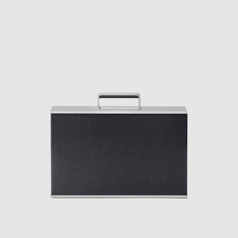 Charles Simon Mackenzie attache case in black front view