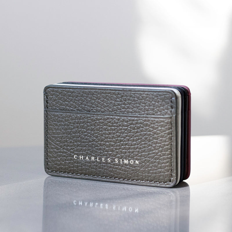 Charles Simon James card holder in graphite lifestyle 2