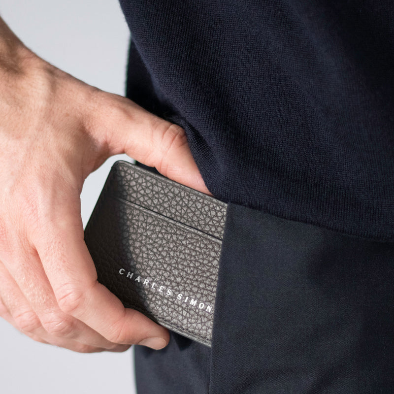Charles Simon James card holder in graphite lifestyle 3