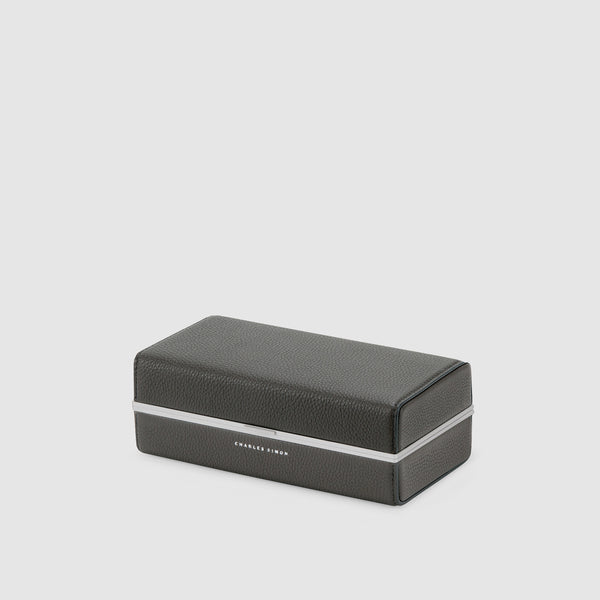 Charles Simon Moraine toiletry case in graphite closed view