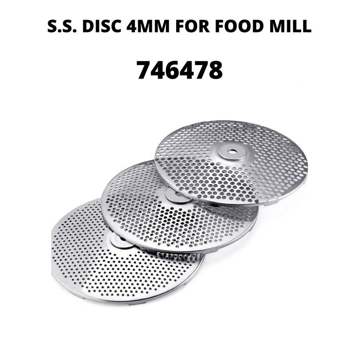 Replacement Part- S.S. DISC 4MM FOR FOOD MILL