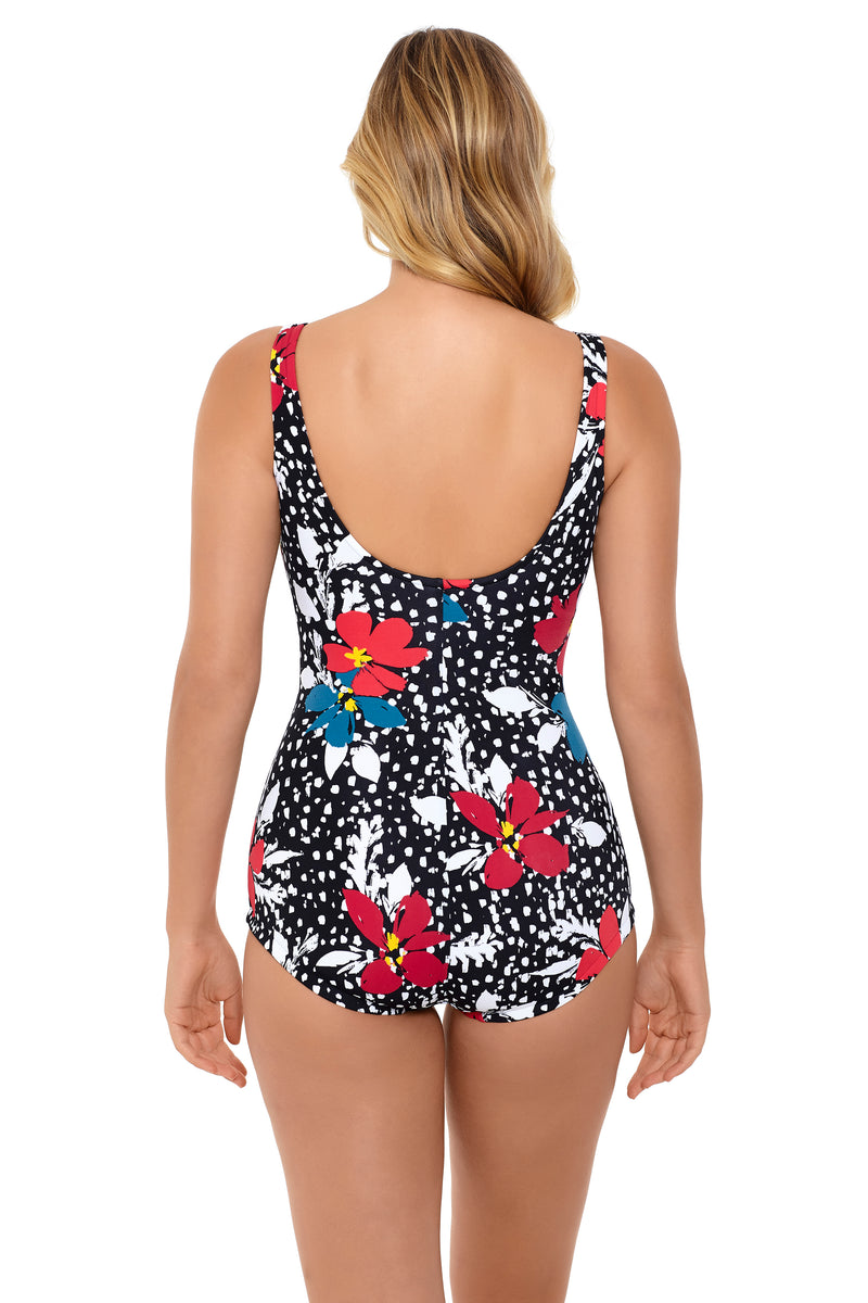 Plus Celebration Shirred Front One Piece