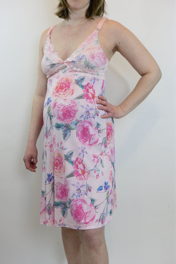 Floral Nursing and Maternity Chemise
