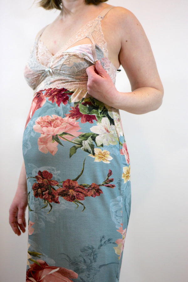 Flowers Nursing and Maternity Chemise
