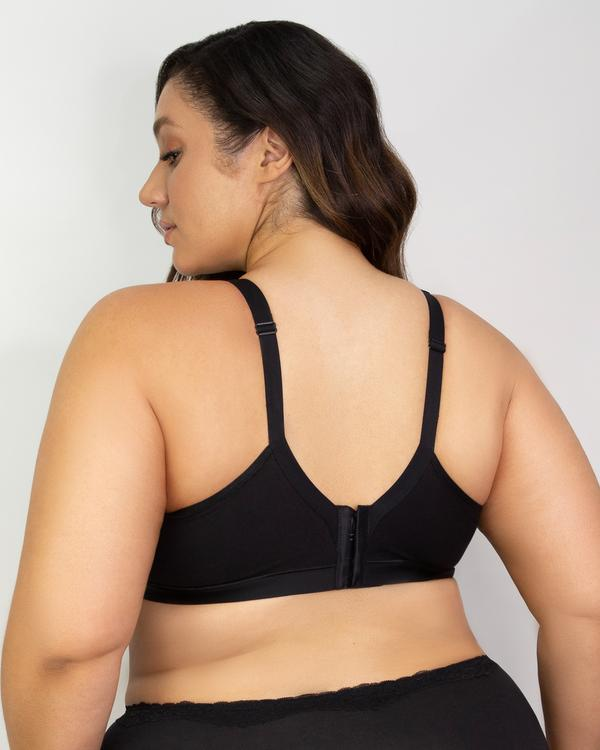 Cotton Luxe Wirefree Bra Black