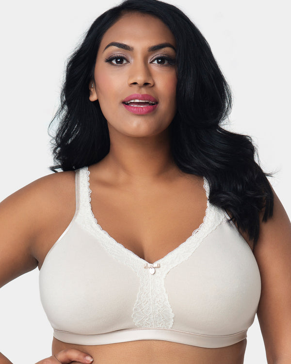 Cotton Luxe Wirefree Bra Natural