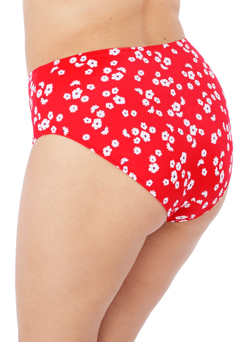 Plain Sailing Bikini Brief Red Floral