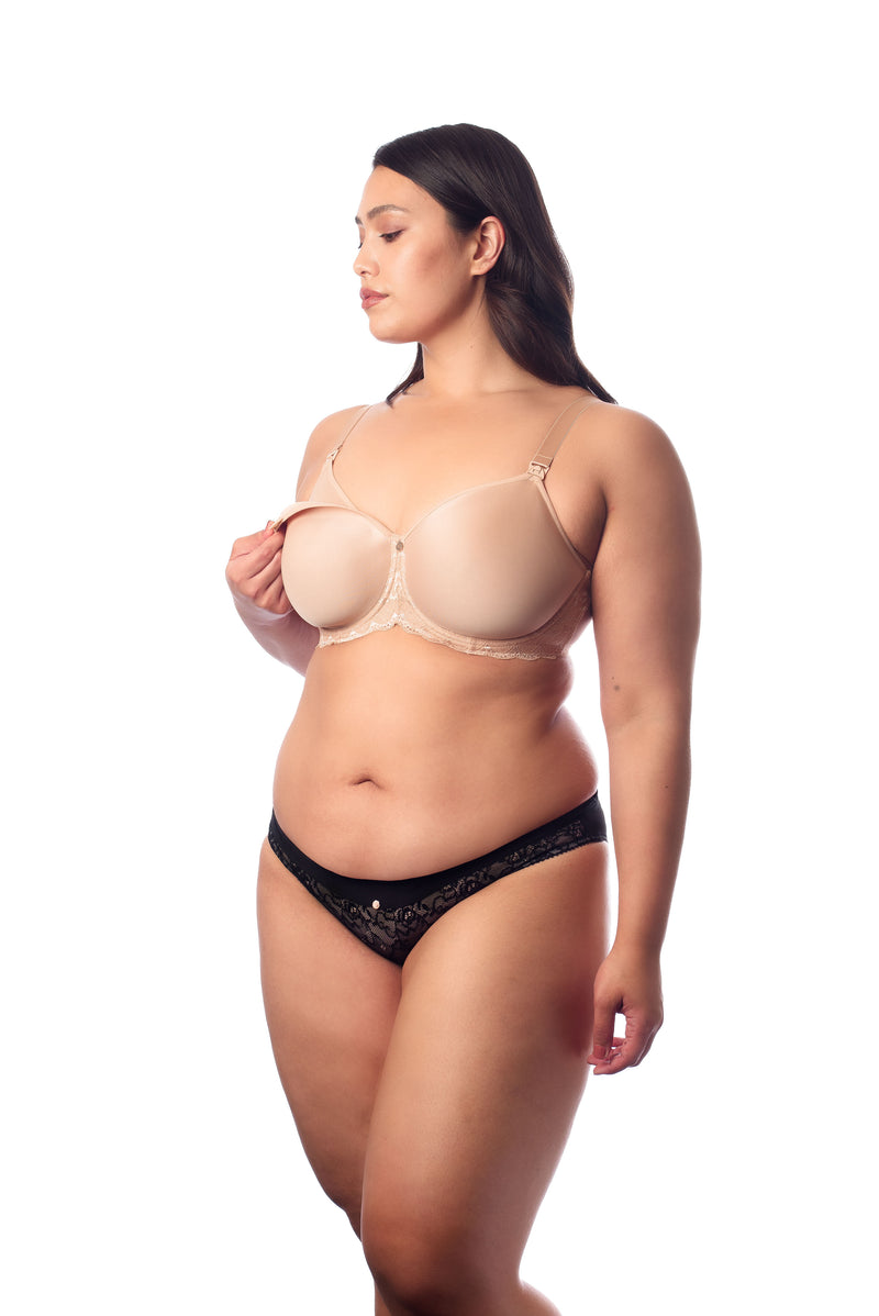 Obsession Full Cup Spacer Nursing Bra Nude