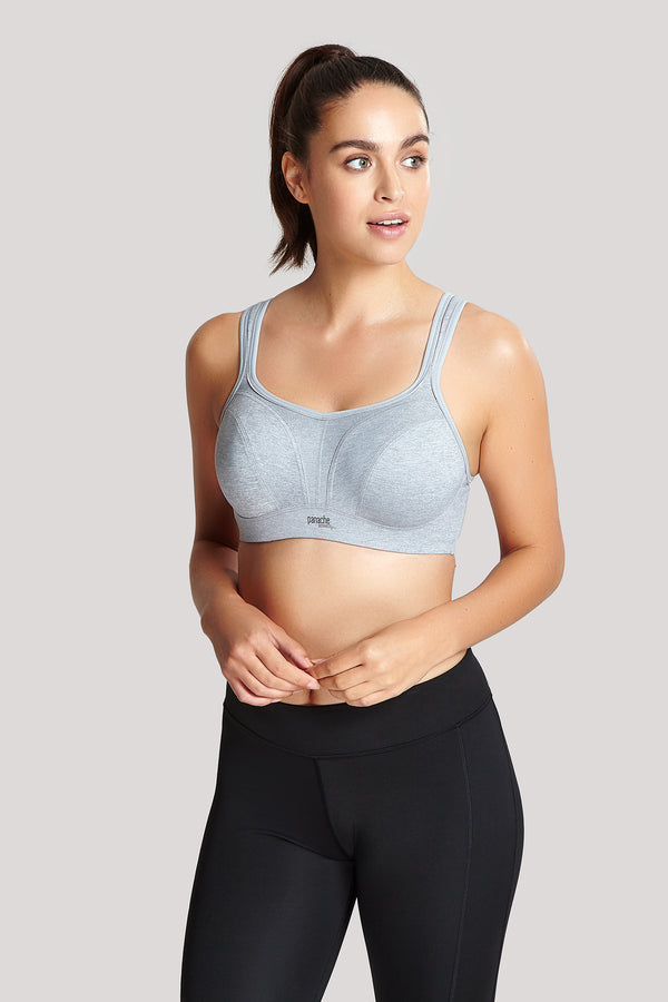 Panache Classic Underwired Sports Bra Marled Grey