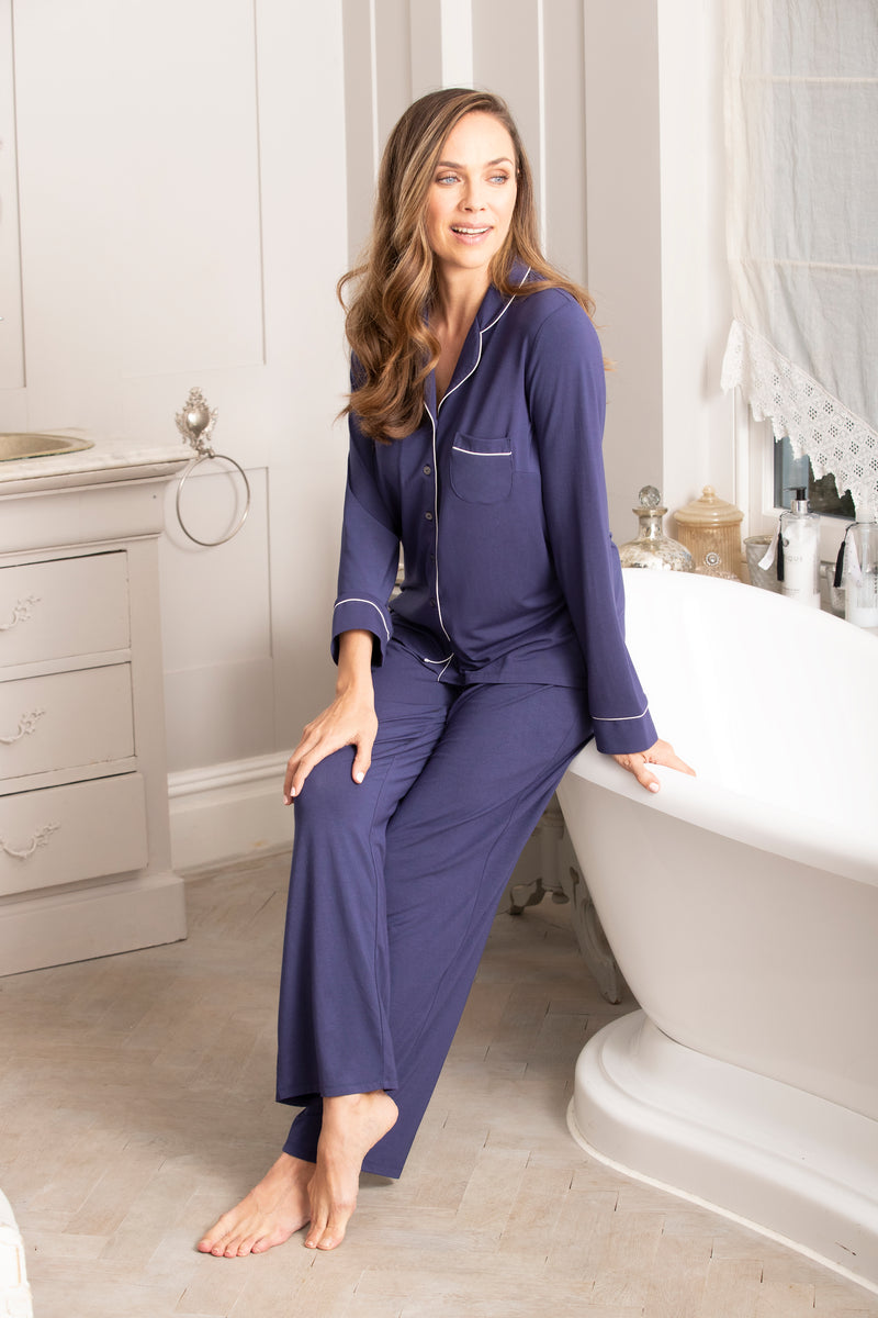 Modal Long Sleeve Jersey Pajama Set
