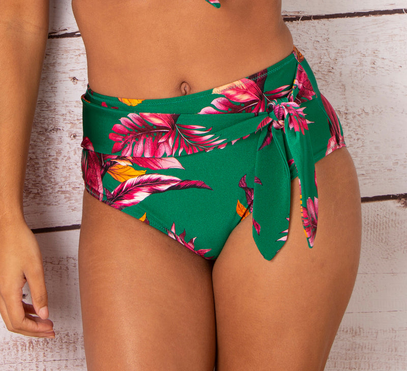 Paradiso Belted Control Swim Brief Green