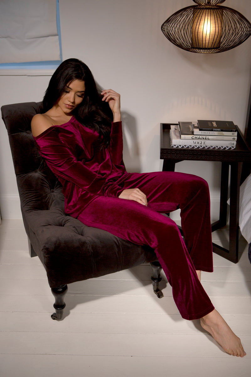Velour Pajama Set Plus