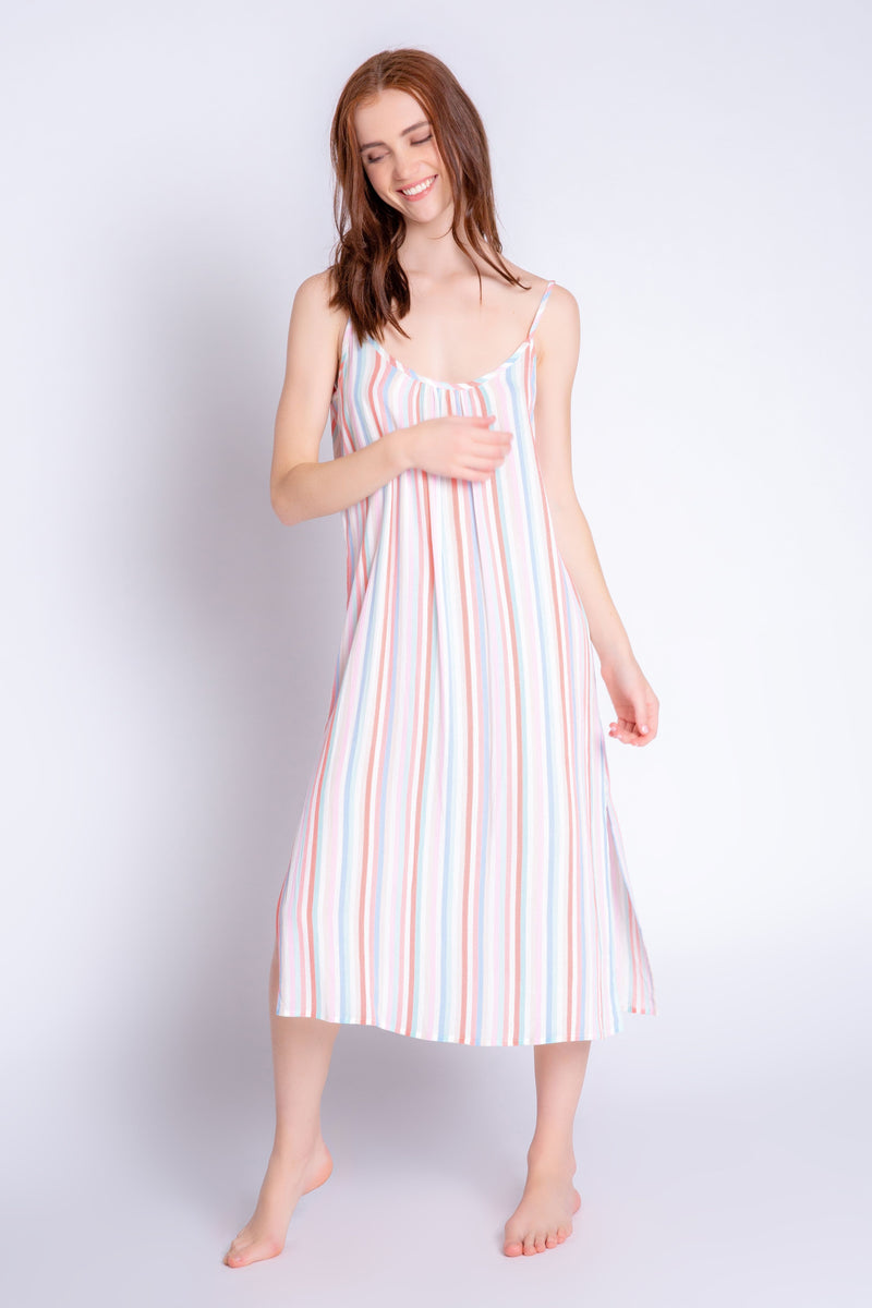 Saturday Morning Stripe Lounge Dress