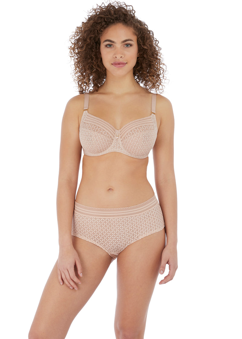Viva Lace Underwire Side Support Bra Natural Beige